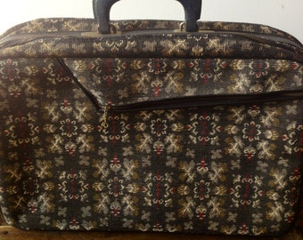 Vintage Suitcase, Fabric Suitcase, Photo Prop