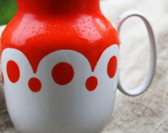 Soviet union vintage polka dot pitcher soviet union polka dot creamer 1980's