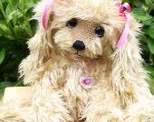 Artist Bear, Bunny, Handmade, One of a Kind, Rabbit, Teddy Bear, Jointed, pink, gift, girly
