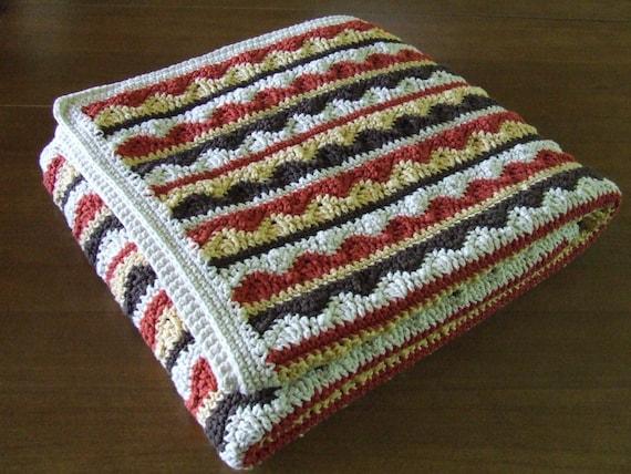 Crochet Pattern Southwestern Afghan : Southwestern Style Crochet Afghan Throw