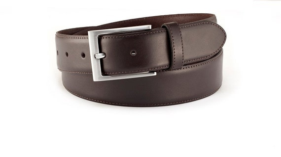 mens dress belt black leather classic belt by