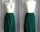 Emerald Green & Black Knit Tube Skirt size small