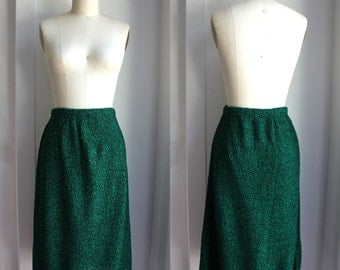 Emerald Green & Black Knit Tube Skirt size small