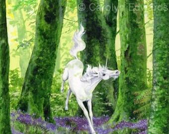 UNICORN - Beautiful Glossy A4 Art Print (29.7 x 21cm)