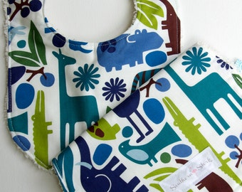 Bib and Burp Cloth Set - Modern Safari