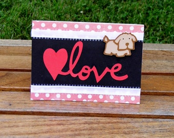 Love Dog Blank Dog Card