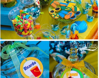 Beach printable party