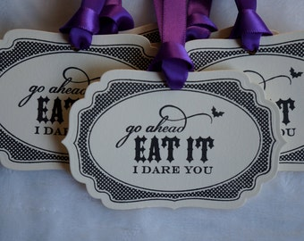 Halloween Tags, Buffet tags, Party Tags, Set of 5
