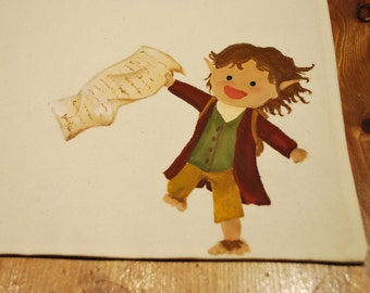 Handmade shopper with BILBO from THE HOBBIT   100% cotton