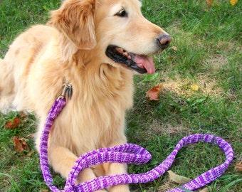 Purple Dog Leash, Violet Dog Leash, Big Dog Leash,  Six Foot Leash, Strong Dog Leash, Training Dog Leash,  Variegated Purple