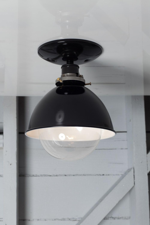 Industrial Ceiling Mount Light Metal Shade Lamp Semi Flush