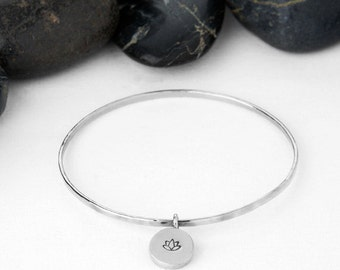 Lotus, Lotus Flower, Yoga Gift, Lotus Jewelry, Lotus Bracelet, Yoga, Gift For Her, Yoga Jewelry, Gift, Lotus Gifts, Yoga Bracelet, b251s