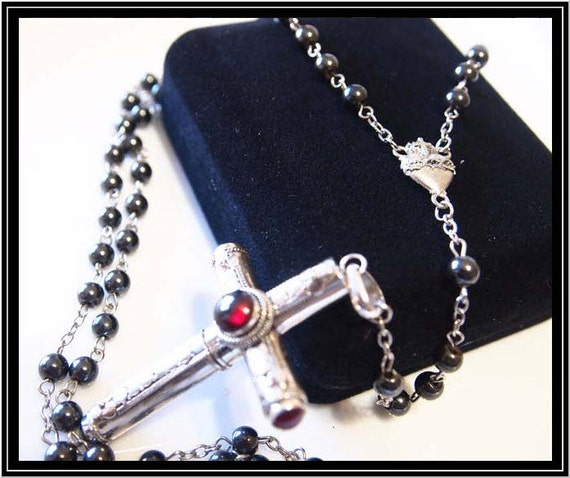cruel intentions rosary classic design garnet sterling