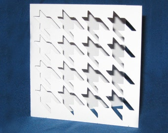 Hand Cut Houndstooth Pattern Card