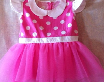 Pink Minnie Mouse Inspired Tutu Dress/Costume~Infant/Toddler/CHILD
