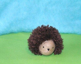 Waldorf Hedgehog Doll, Handmade From Natural Materials