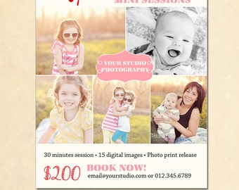 INSTANT DOWNLOAD Holiday Mini Session template - MA070