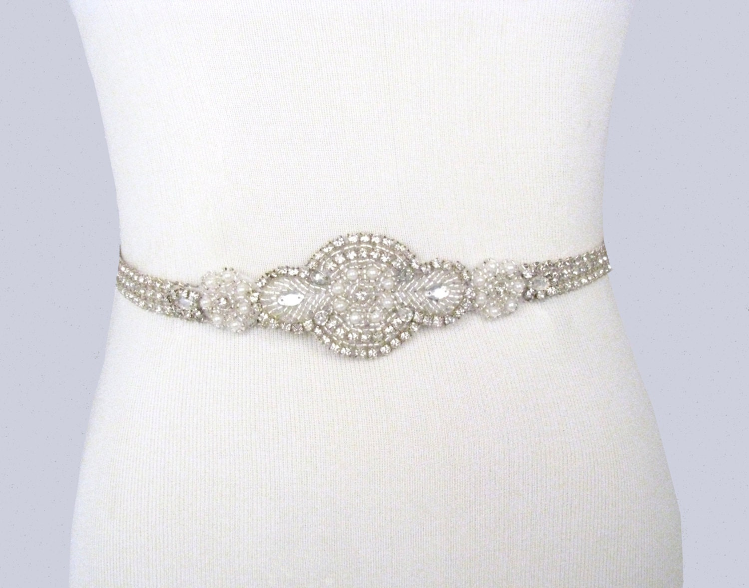bridal sash rhinestone wedding belt pearl dress