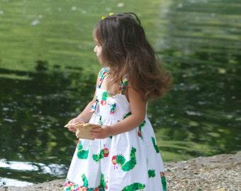 Very Hungry Caterpillar Dress, Caterpillar Dress, Hungry Caterpillar Birthday party, First Birthday Party Dress, Eric Carle Dress
