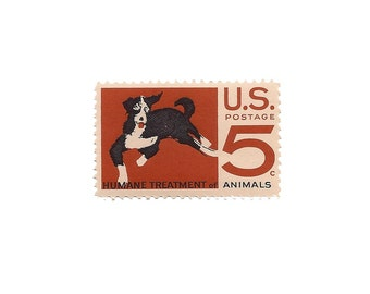 Set of 10  /////  1966 Vintage US Air Mail Stamps Ready to Use