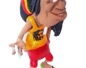Rasta man reggae jamaican model figure desk accessory