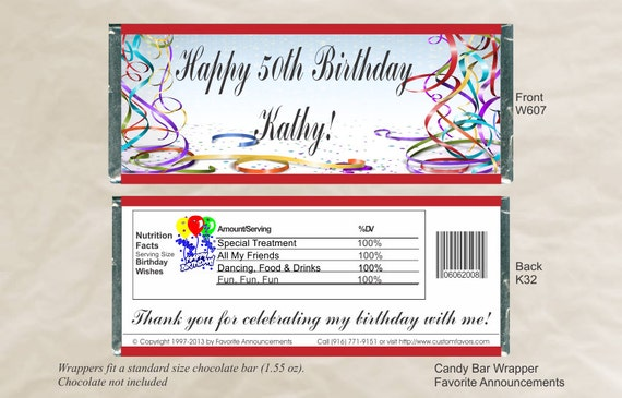 60th Birthday candy bar gift | just b.CAUSE