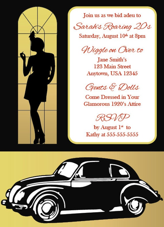 Gatsby Invitation Wording was amazing invitation sample