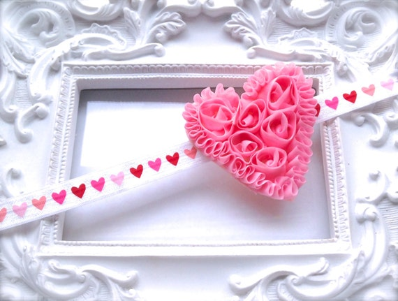 Valentine's Day Baby Girl Headband | Baby Girl Valentines Day Headband | Red Heart | Pink Heart Valentine's Day Headband | Rosette Heart