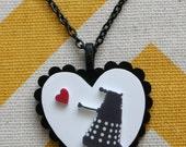 Dalek Love Silhouette Pendant