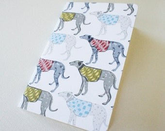Mini journal covered with Greyhound fine paper