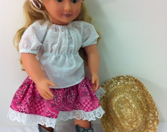 "Cowgirl Outfit  - Fits 18"" American Girl Doll and all other 18"" Dolls"