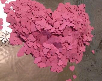 Pink Heart Confetti, Decoration, Cutout, Die Cuts