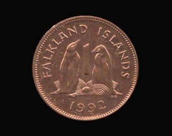 Coin Connoisseur - Falkland Islands Penguin coin - Gentoo Penguin - uncirculated - various dates - 1 penny