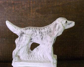 Vintage Chalkware Dog Figurine Setter Retriever Plaster Dog Statue 1940s Mid-Century Dog Art