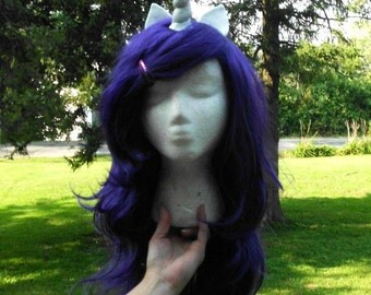 Rarity Wig Unicorn Wig Purple Violet Unicorn Horn Costume Wig My Little Pony  my little pony cosplay