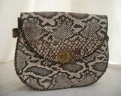 SALE Snake print Leather handbag