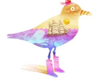 The Seagull (bird, sea, whale, ship, dream)