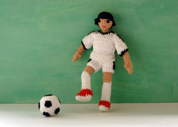 Jack Russell Amigurumi Free Pattern : Amigurumi doll pattern for football player / boy by ...