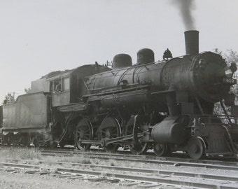 Original 1950's Chicago And Northwestern Railway Train Engine No.413 Real Photo Postcard RPPC - Free Shipping