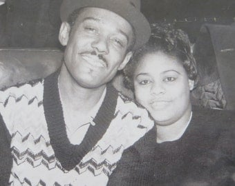 Date Night - 1960's African American Black Man And His Girl Snapshot Photo - Free Shipping