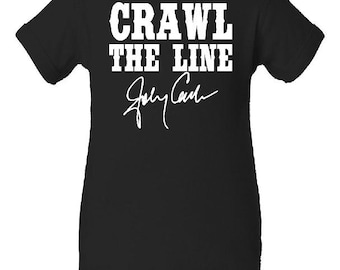 Crawl The Line Johnny Cash inspired Onesie