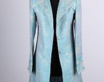 Cashmere Grace Coat in Pale Cyan