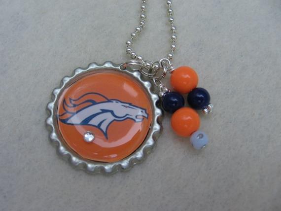 denver broncos football necklace broncos jewelry