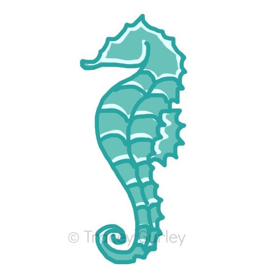 Seahorse turchese originale arte scarica 2 file clipart di for Scarica clipart