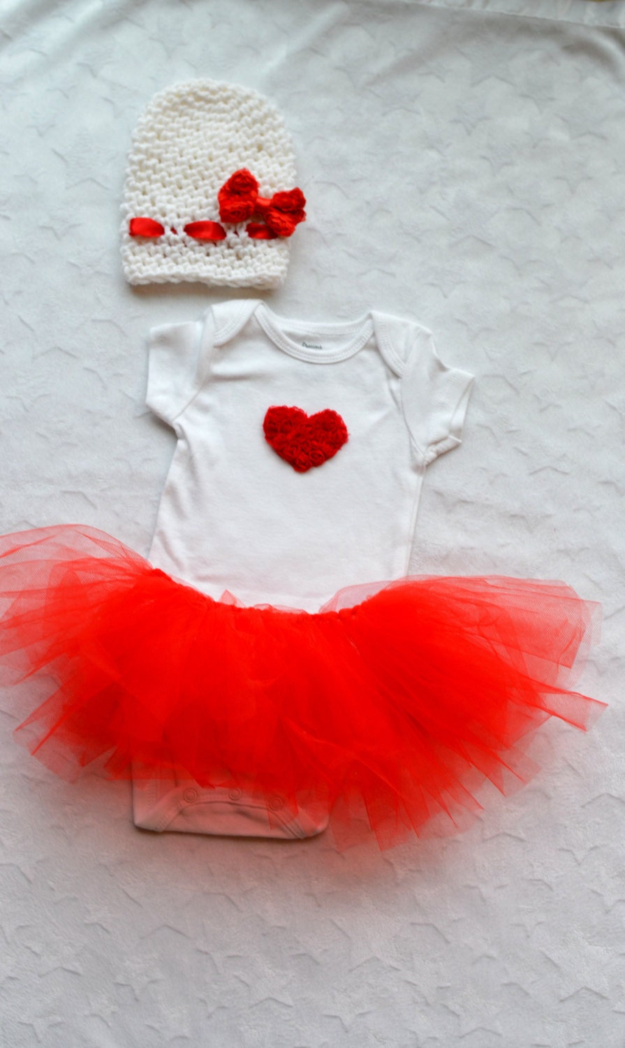 Baby Girl Valentines Day Outfit by ChildishDreams on Etsy