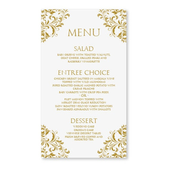 wedding menu cards templates for free - wedding menu card templates free matik for