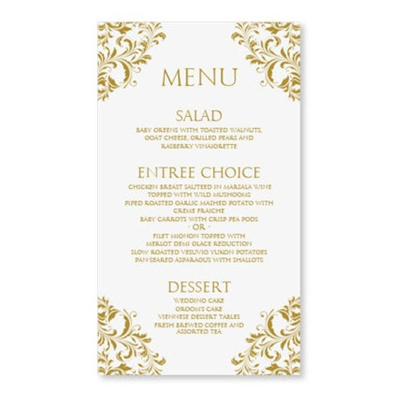 Wedding menu card templates free matik for for Wedding menu cards templates for free