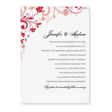 Einladung Hochzeit Vorlage Hochzeit Einladung Vorlage Instant Karmakweddings