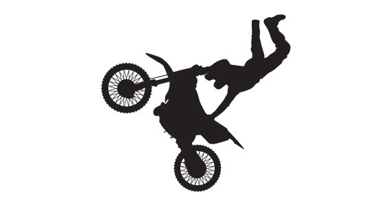 Motocross Silhouette Wall Decal Teen Vinyl Sticker Extreme