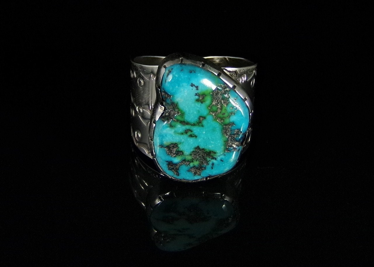 s turquoise ring sterling silver handmade by